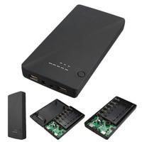 Universal 5 V 9 V 12 V 6x18650 Dual USB Portátil caja de la Caja de Banco de la Energía del Cargador de Batería externa Para el iphone Para Samsung