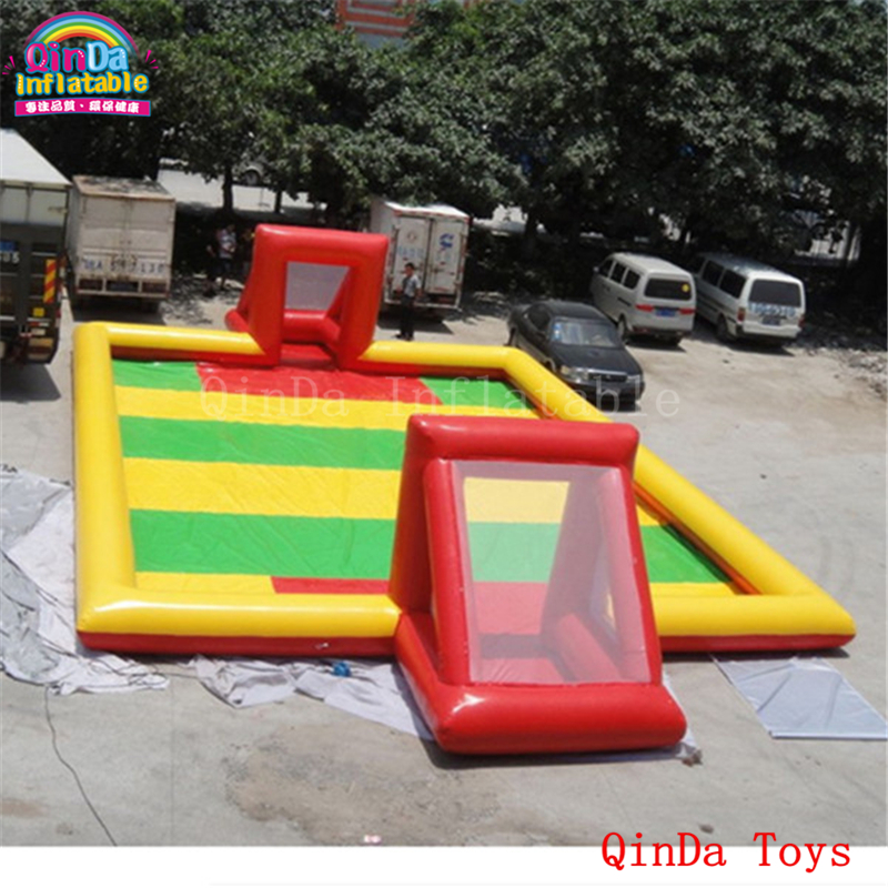 12*6*0.65m inflatable playground court,free air blower inflatable soccer field for sale free shipping ce certificated inflatable football pitch inflatable soccer court soapy stadium for sale