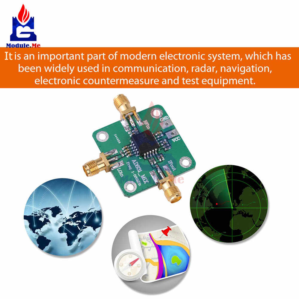 AD831 High Frequency RF Mixer Module 1 -500MHz Bandwidth Dual Balanced  Mixer Single Chip Radio Frequency Converter