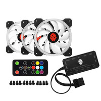 Cooler Cooling Fan Computer PC Double Ring 366 Modes 10 Level Adjust Speed RGB LED 120mm