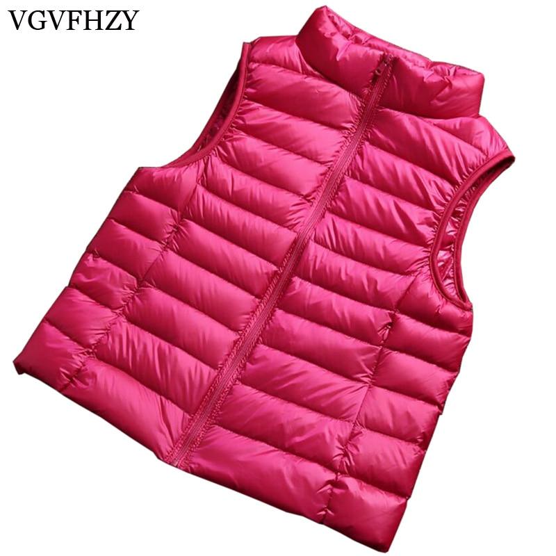 2108 Women 90% White Duck Down Vest Womens Ultra Light Duck Down Vest Jacket Autumn Winter Sleeveless Female fashion Coat LY737