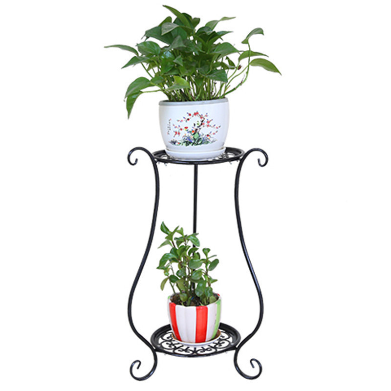living room metal outdoor iron multifunctional European style plants flowerpot rack shelves decoration green flower shelf 1208s simple iron shoe rack multilayer living room removable storage finishing metal shelves