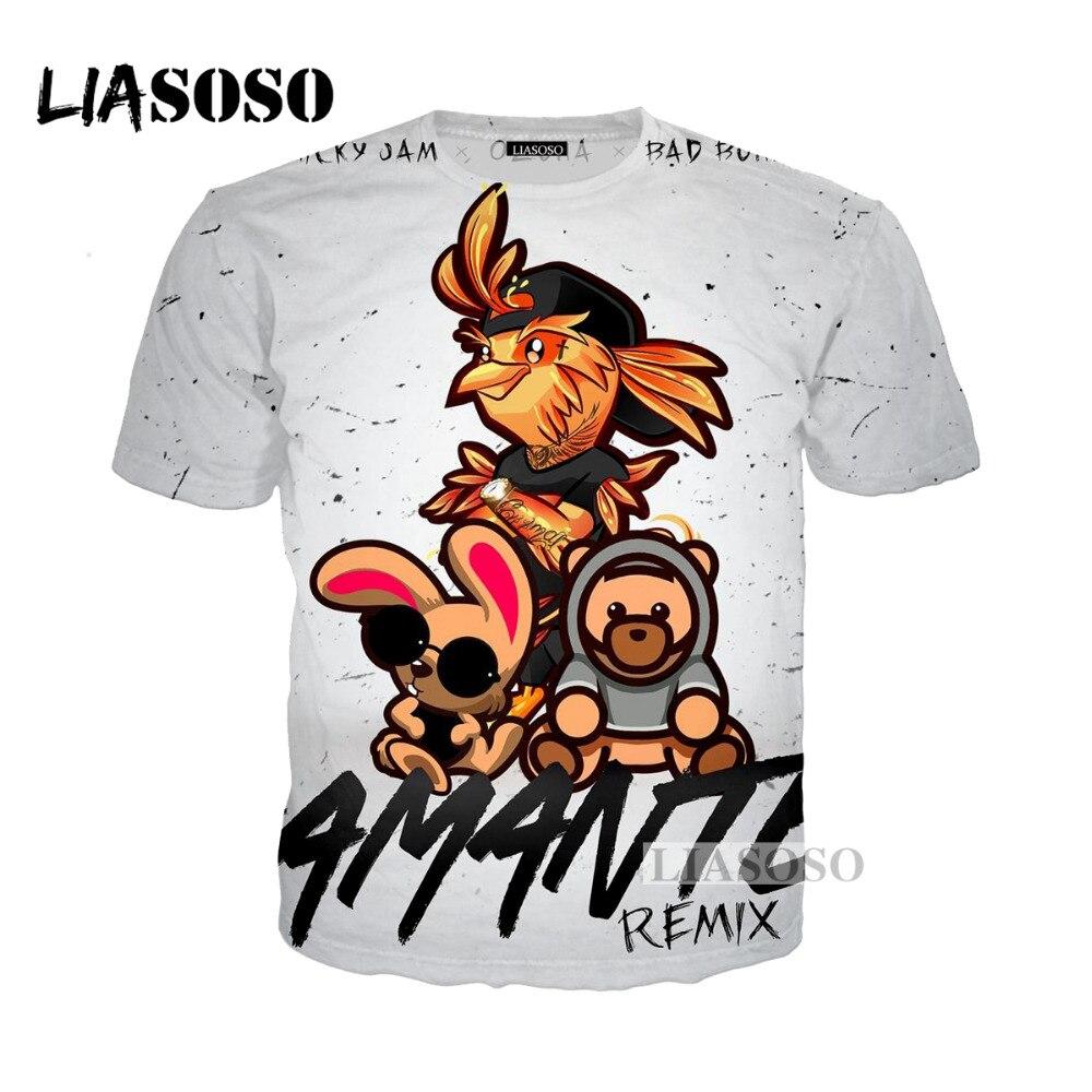 LIASOSO 2018 хип-хоп DJ певица Nicky Варенье, X 3D Футболка с принтом/толстовка унисекс Remix футболки топы Футболка G216
