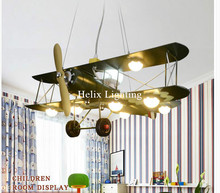 Free Shipping Plane Design Children Lamp Pendant Lamp Novelty Light Decorative Cartoon Bedroom L70cm Children Lamp Lighting