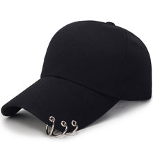 baseball cap with rings bts jimin hat bts suga cap BTS LIVE THE WINGS TOUR kpop bts cap Iron Ring Hats Baseball cap 100% handmad(China)