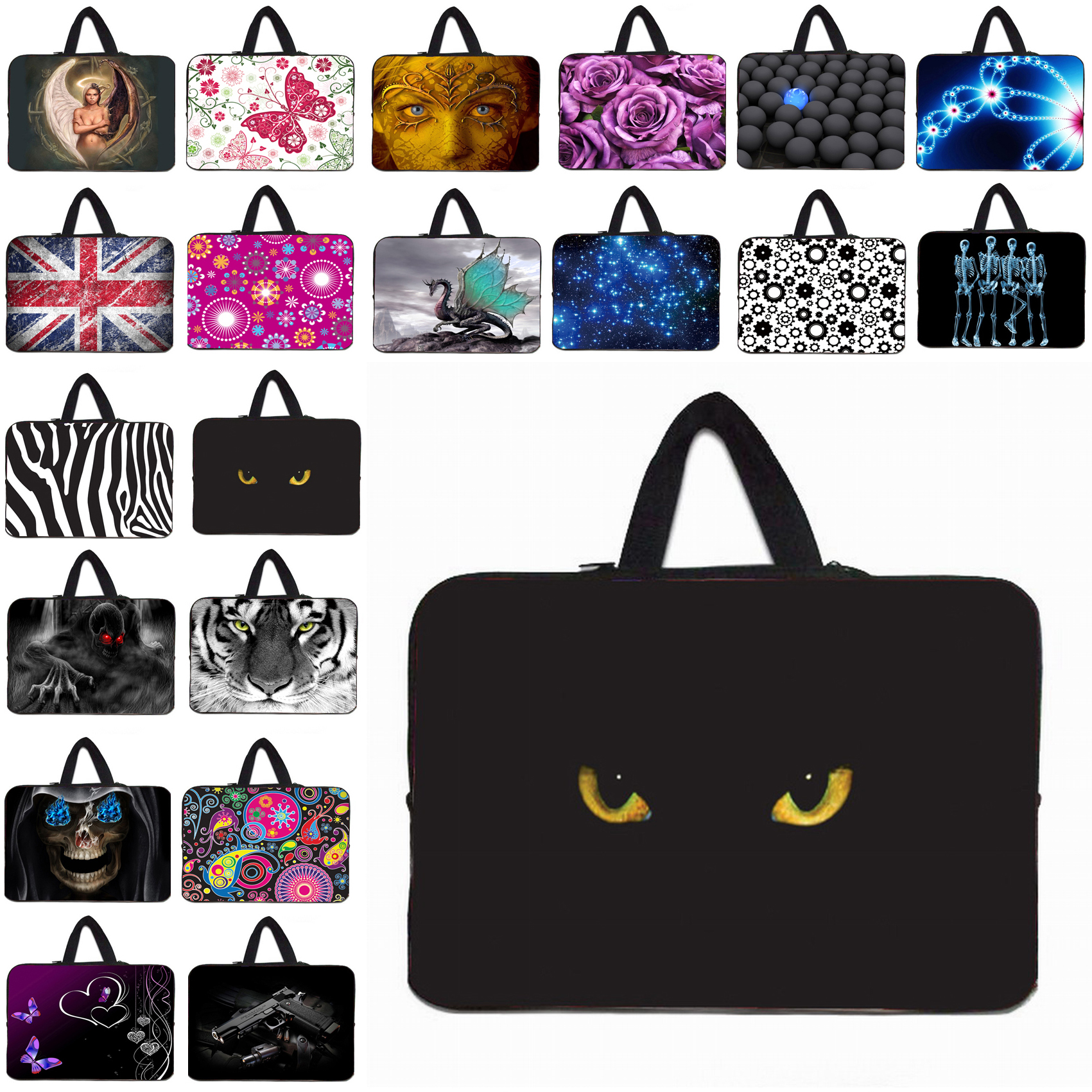 12 Inch Laptops Universal Soft Neoprene Protective Liner Cases & Bags For Apple Macbook Air 11.6 12.1 Notebook Fashion Bag