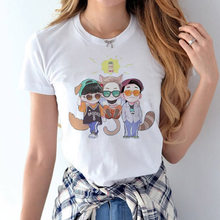 EXO female t-shirt 2017 Summer k-pop xoxo k pop Short Sleeve Women T Shirts kpop exo Tops Print O-Neck Korea Style tShirt tees(China)