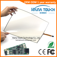 Win10 Compatible Flexible 15 Inch Includes USB Controller 4 Wire Pellicle Resistive Touch Screen Panel For