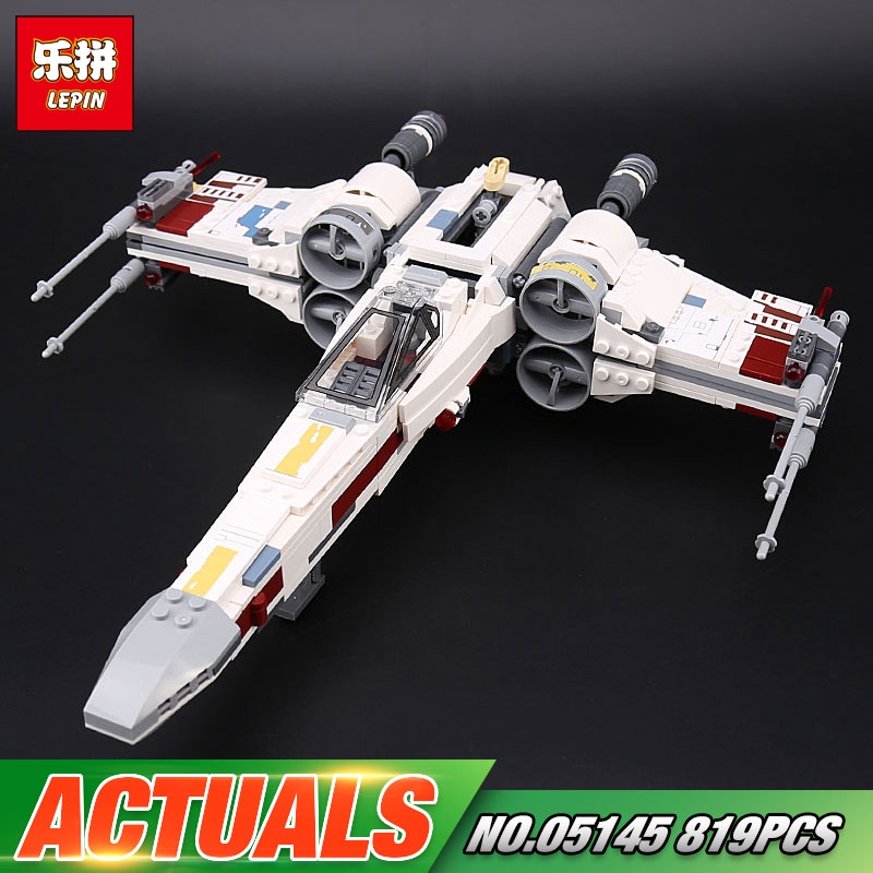 Lepin 05145 Star Toys Wars The 75218 X-wing Star Plan Fighter Set Building Blocks Bricks New Kids Toys Christmas Birthday Gifts lepin 05127 705pcs star plan series the 75179 tie model fighter set building blocks bricks educational kids toys christmas gifts