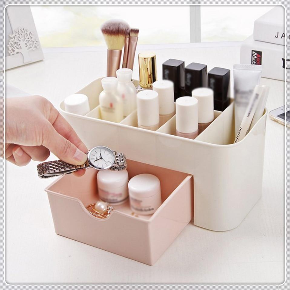 HTB1. tlIuuSBuNjSsziq6zq8pXa8 - Msjo Makeup Box  Jewelry Necklace Nail Polish Earring Plastic Organizer Storage Box