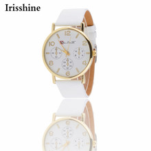 Irisshine Y5896 women watch gift lady girl brand luxury  New Womens Style Leather Band Analog Quartz Wrist Watches