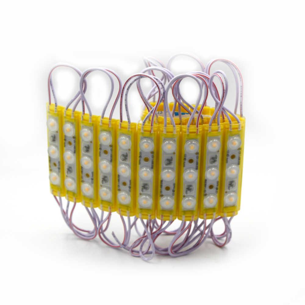 20 штук Светодиодный модуль магазин 1,5 W лобового стекла от солнца парк атракционов Лампа неоновая вывеска SMD 2835 3 светодиодный белый ip68 водонепроницаемая лампа дневного света