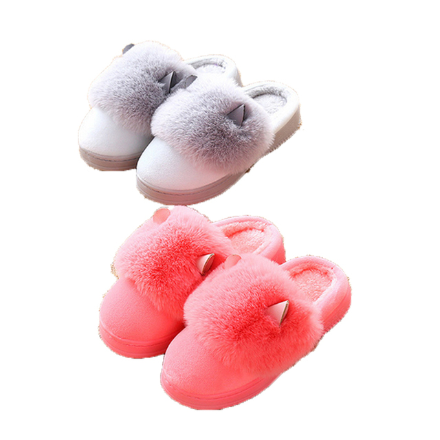 Children's Cotton Slippers Winter Warm Shoes Slip Cotton Trailer Home, Boys And Girls Baby Shoes WMC2129