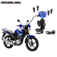 INIZEAL 2 in 1 USB Charger Motorcycle Phone Holder 360 Degree Motorbike Universal Rotating Mount Mobile Phone Stand Holder