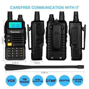 Image 2 - Quansheng UV R50 Walkie Talkie VHF UHF Dual Band Long Range UVR50 Handheld Ham 2 Way Radio UV R50 uv 5r 5W Transceiver Huntin