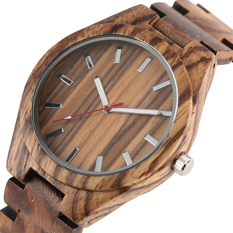 2017 New Arrivals Cool Mens Hand-made Natural Wooden Quartz Watch White & Red Pointer Wood Watchband Casual Best Gift for Male 2017 New Arrivals Cool Mens Hand-made Natural Wooden Quartz Watch White & Red Pointer Wood Watchband Casual Best Gift for Male