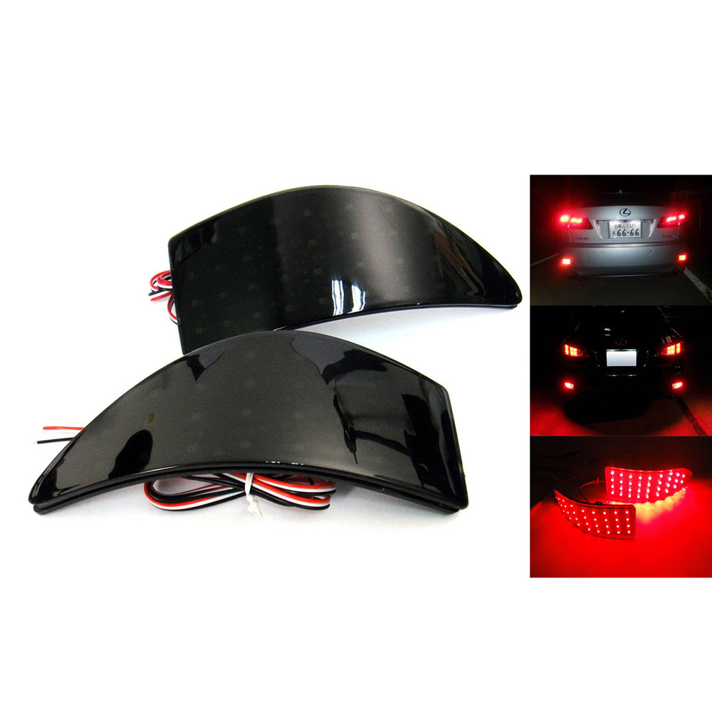 Black Smoked Belakang Bumper Reflektor LED Stop Brake Light untuk GSE20 Lexus IS250 IS350 XE20