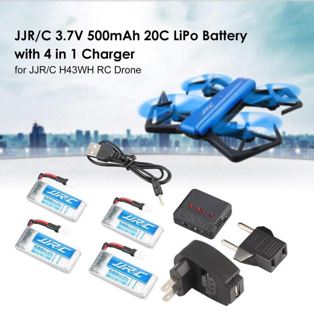 Lipo Batterie für JJR/C H43WH GoolRC T33 RC Drone Quadcopter 3,7 v 500 mah 20C Lipo Batterien mit 4 in 1 Ladegerät Ersatzteil