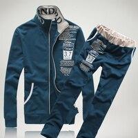 Tracksuits Mens Set 2018 Autumn Sportswear Men Long Sleeve Sweatshirt+Pants Sporting Suit Printed letter Sweatsuit 2pcs set