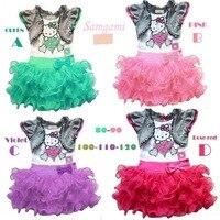Perakende Ücretsiz nakliye SıCAK Çocuklar Kızlar Için Sevimli Pamuk Hello kitty Elbiseler Yaz