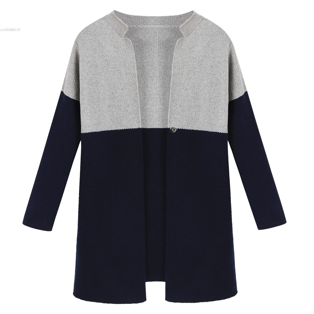 Gray Green Cardigan sweater Women casual Long sleeve Crochet Coat ...