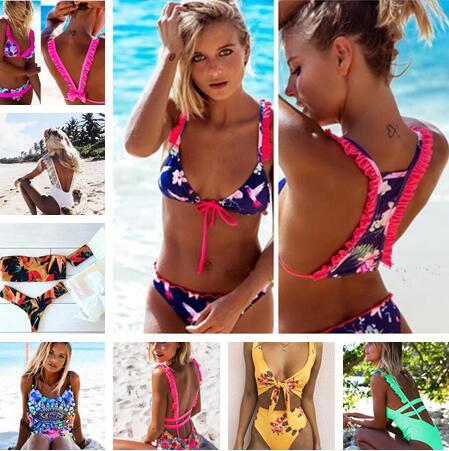 Brazilian Bikinis Women 2017 New Bikini Set Push Up Swimwear Women Summer Beach Wear Sexy Print