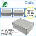 180*130*63mm 7.09X5.12X2.48 Inch Light grey waterproof plastic box enclosure electronic