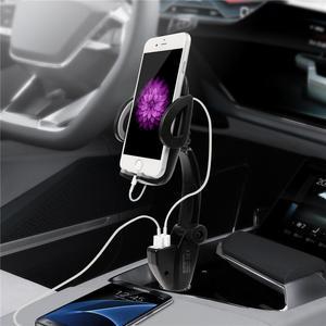 Image 5 - TURATA Stand מחזיק טלפון אוניברסלי לרכב לשקע מצית רכב הר מטען 5 V/3A 2 יציאות USB עבור iPhone X חכם טלפון