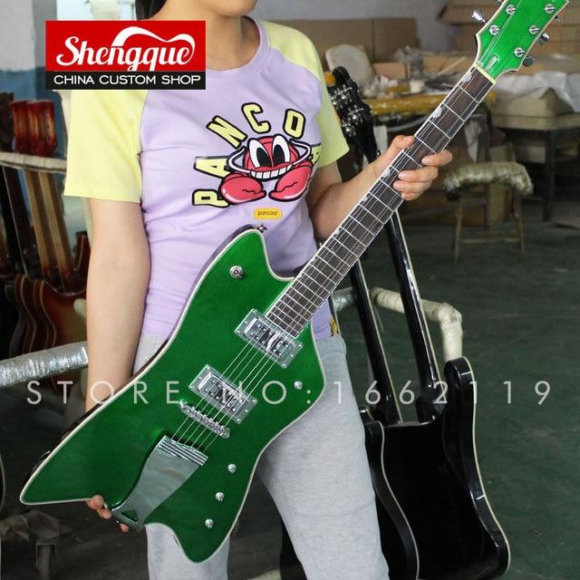 Shengque Custom Gretsch Guitar Thunderbird Reverse Fsr Billy Bo