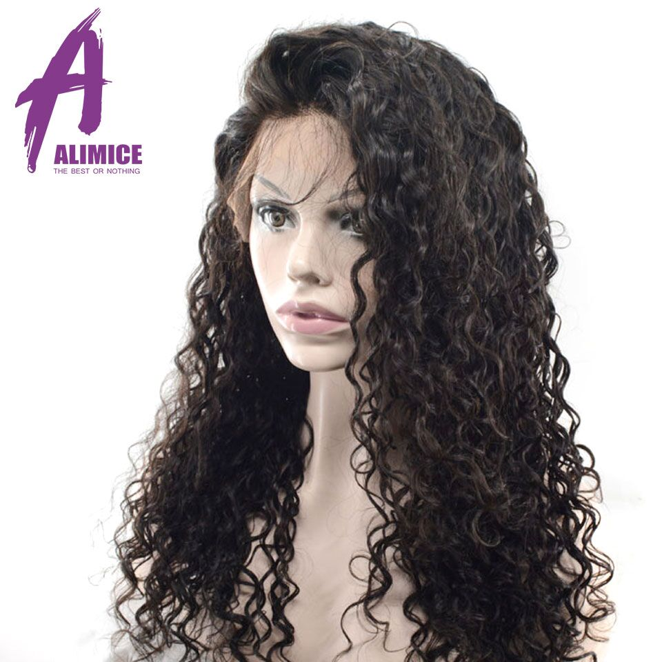 Alimice Hair Water Wave 360 Lace Frontal Wigs Brazilian Remy Full End Human Hair Wigs With Baby Hair Pre-Plucked With Baby Hair (7)