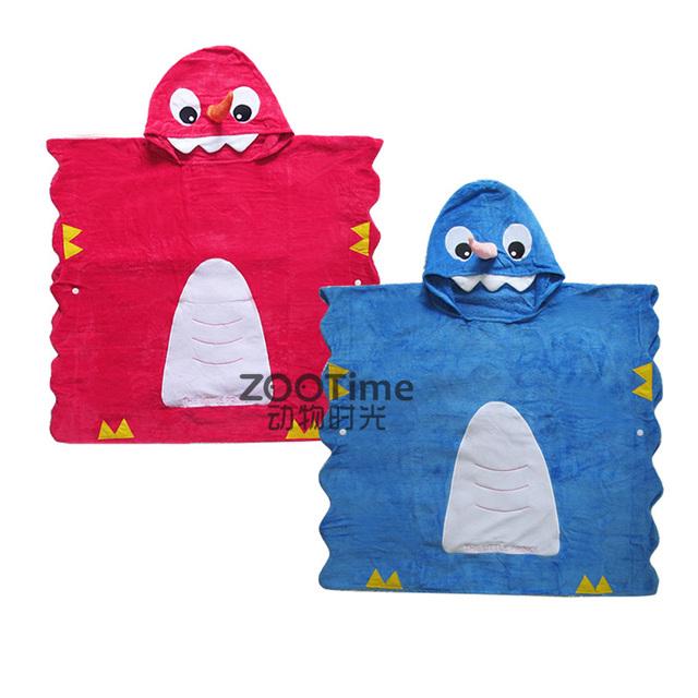 Niños dinosaurio de nariz Larga bordada terry toallas borde ondulado de cobertura capa niños y niñas