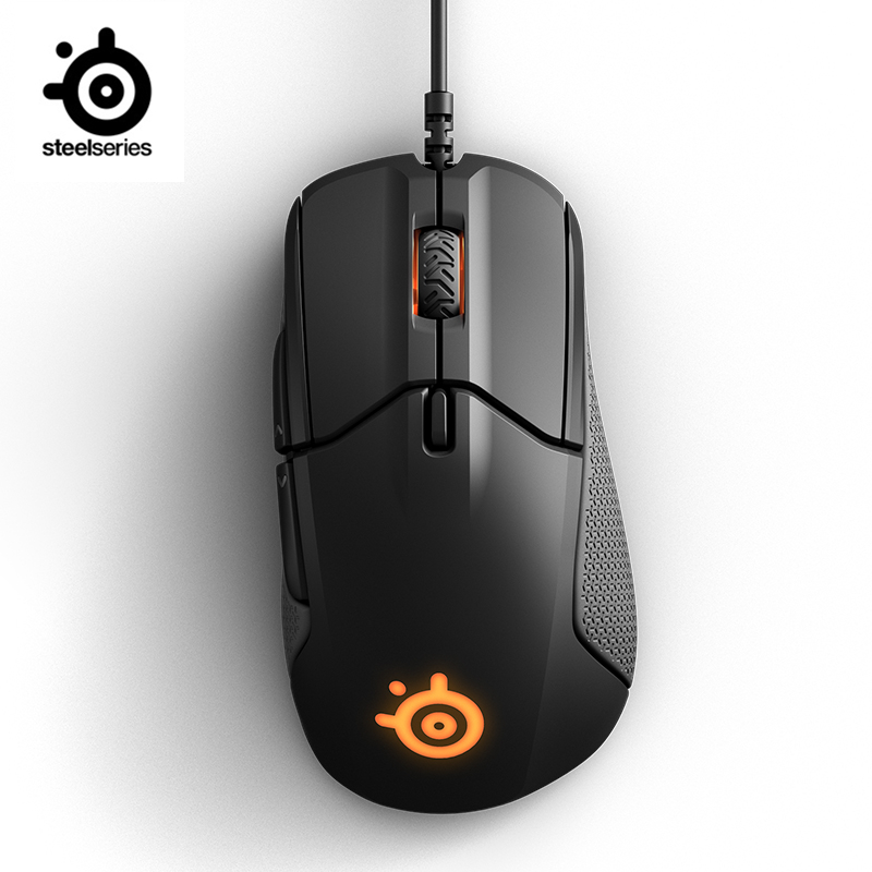 SteelSeries Rival 310 RGB FPS USB Optical Gaming Wired Mouse with 6500 CPI Split-Trigger Buttons CS LOL CF  for  Windows Linux dare u wcg armor soldier 6400dpi 7 programmable buttons metab usb wired mechanical gaming mouse