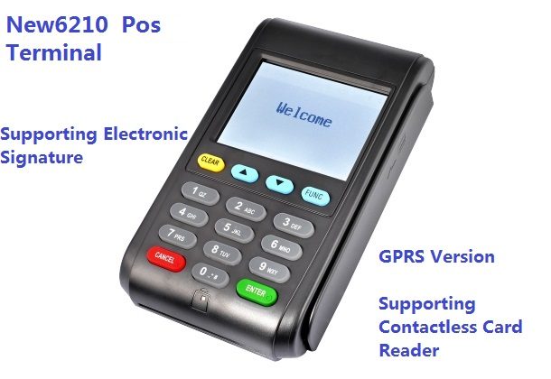 NEW6210 Wireless MPOS Terminal Mobile POS Payment GPRS Version with 2.8 inch Touch Screen CE,RoHS Certificated
