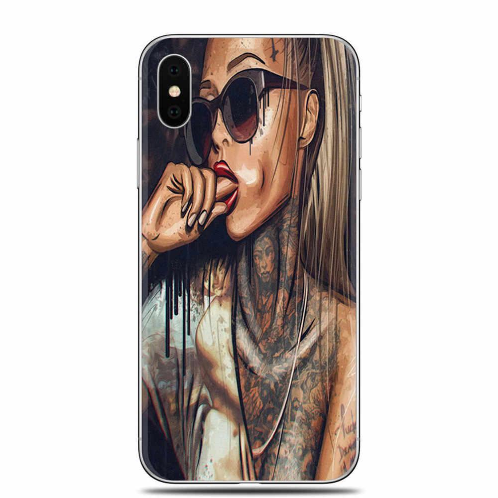 Модный сексуальный мягкий силиконовый чехол для телефона для iPhone X 5 5S SE 6 6 S 6 Plus 6 S Plus 7 7 Plus 8 8 Plus TPU чехол