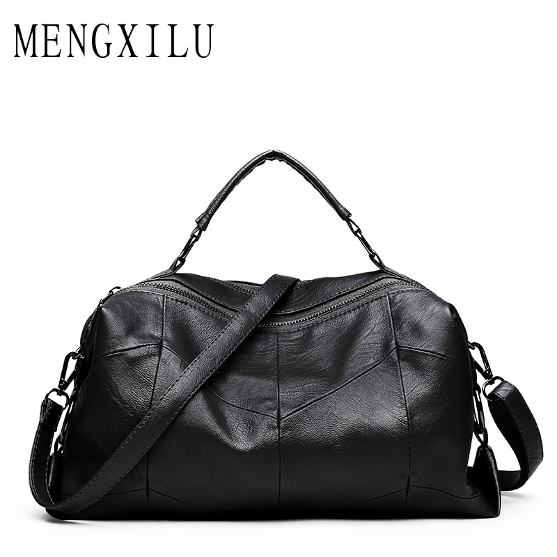 Leather Women Bags Designer Luxury Handbags Shoulder Bag Female Big Casual Tote Spanish Brand Crossbody Bag Ladies Geometric Sac women tote bag designer luxury handbags fashion female shoulder messenger bags leather crossbody bag for women sac a main