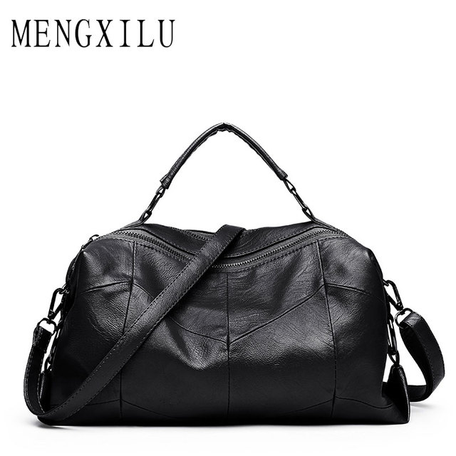 0343d3c6a39 US $16.78 45% OFF|Leather Women Bags Designer Luxury Handbags Shoulder Bag  Female Big Casual Tote Spanish Brand Crossbody Bag Ladies Geometric Sac-in  ...