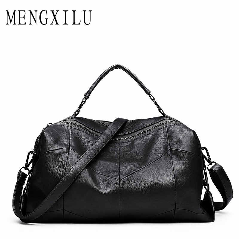 Leather Women Bags Designer Luxury Handbags Shoulder Bag Female Big Casual  Tote Spanish Brand Crossbody Bag 2e47b8b1d916d