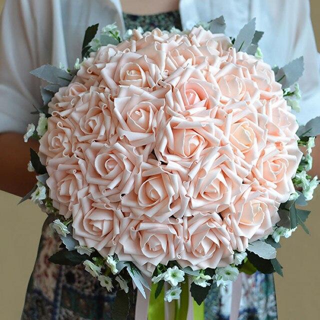 2016 новый На Складе кристалл 6 цвет Роза цветок Люкс Для Невесты свадебный букет искусственный цветок розы кристалл свадебные букеты