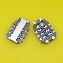 2pcs/lot Best Price 6PIN sim card reader holder socket connector for Xiaomi 2A and for lenovo A768T.