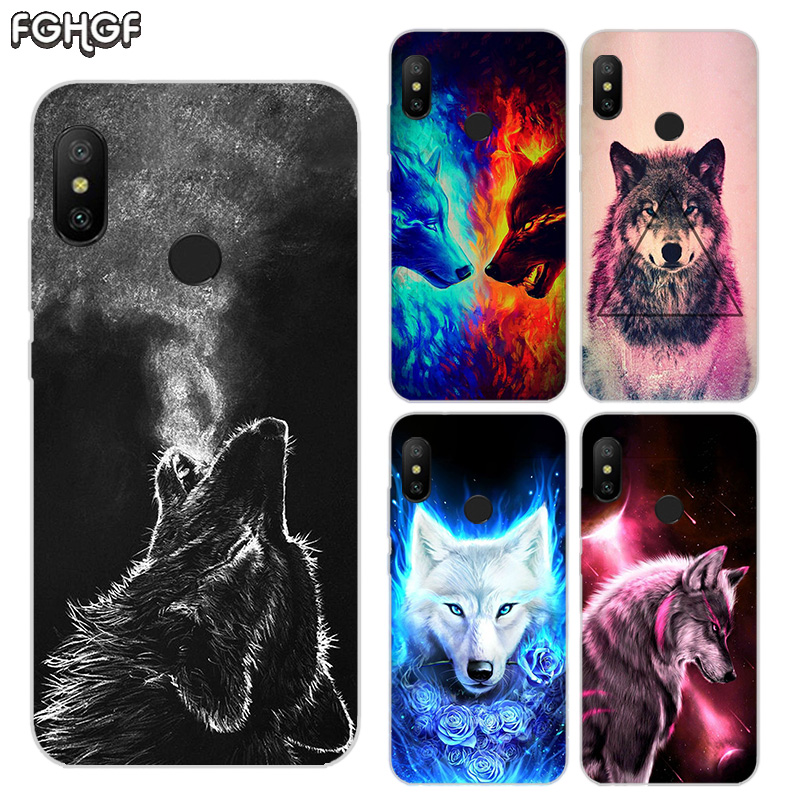 Printed Silicone <font><b>Case</b></font> For Xiaomi <font><b>Xiomi</b></font> <font><b>Redmi</b></font> 4 4A <font><b>4X</b></font> 5 5A 5 Plus 6 Pro 6A S2 <font><b>Note</b></font> 2 3 4 5 6 Heart Cover Starry animal wolf image