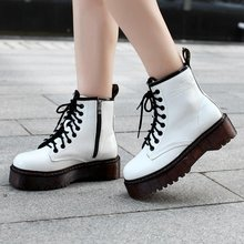 Botas Women Motorcycle Ankle Boots Wedges Female Lace Up Platforms Autumn Winter Soft Leather Oxford Shoes Woman Botas Mujer jady rose embroidered women high heel ankle boots female autumn rivets platform botas mujer genuine leather lace up shoes woman