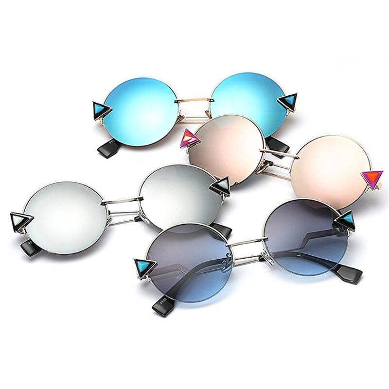 New Half Frame Round Sunglasses Women Brand Designer Retro Circle ...