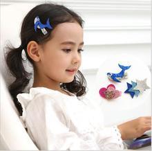 Glitter Cute dolphin  heart Hair Clips Kids woodpecker Flamingos Hairpins Barrettes Children Accessories Girls Headwear