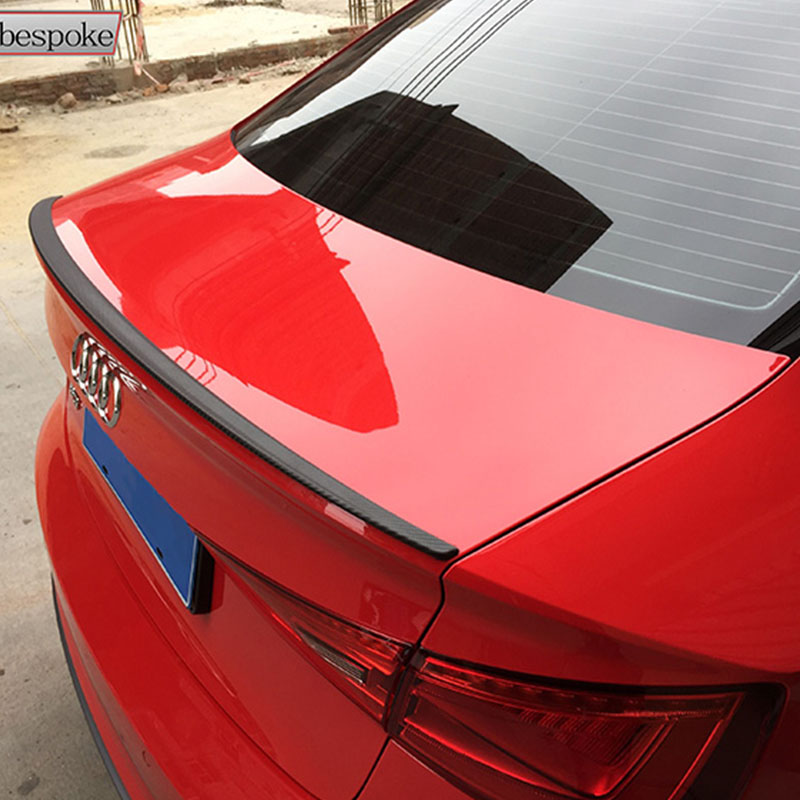 A3 Sedan Modified S3 Style Carbon Fiber Rear Trunk Luggage Compartment Spoiler Car Wing for Audi A3 2014 2015 2016