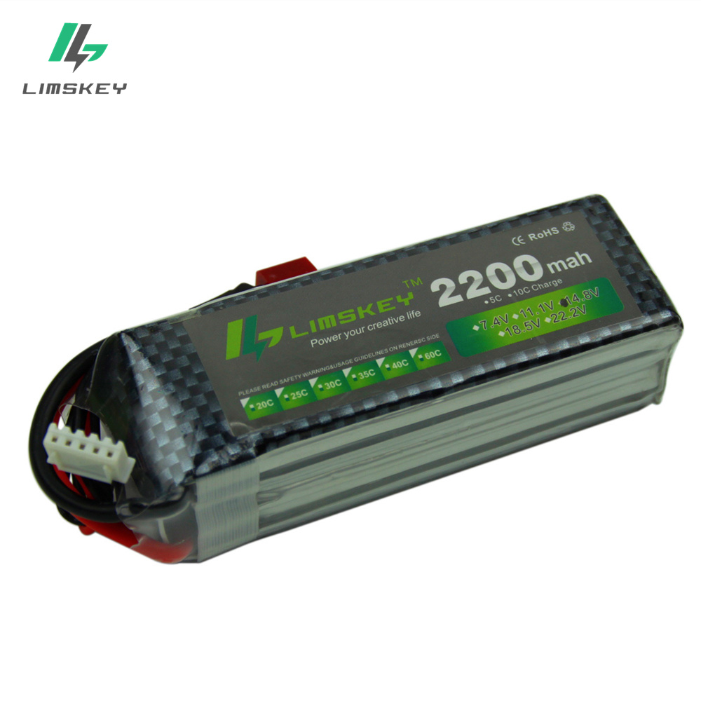 Limskey Power Lipo Battery <font><b>14.8V</b></font> <font><b>2200mAh</b></font> 25C Max 35C 4S T XT60 Plug For RC Quadcopter Truck Drone Battery 14.8 Lipo High Quality image