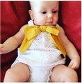 Оптовая 5 компл./лот малышей девушки одежда наборы лето бант (рубашка + шорты) детские дети девочки костюм 1-4 Т сильвия 545399729934