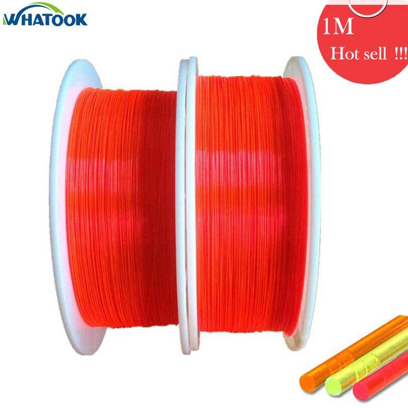 1 M varilla M de fibra óptica Hi-Capa luz roja naranja verde 0,5mm 2,0mm 1,5mm Cable óptico fluorescente neón pistola Luz de cierre