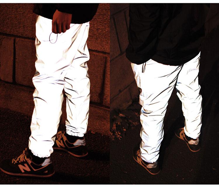 Aolamegs Men's reflective pants night joggers high vis reflective sweatpants hip hop bboy dance trousers men fashion streetwear (6)