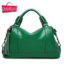 BVLRIGA Boston Frauen Tasche Damen Leder Quaste Tasche Litschi Frauen Messenger Bags Handtaschen Berühmte Marke Designer-tasche Frauen