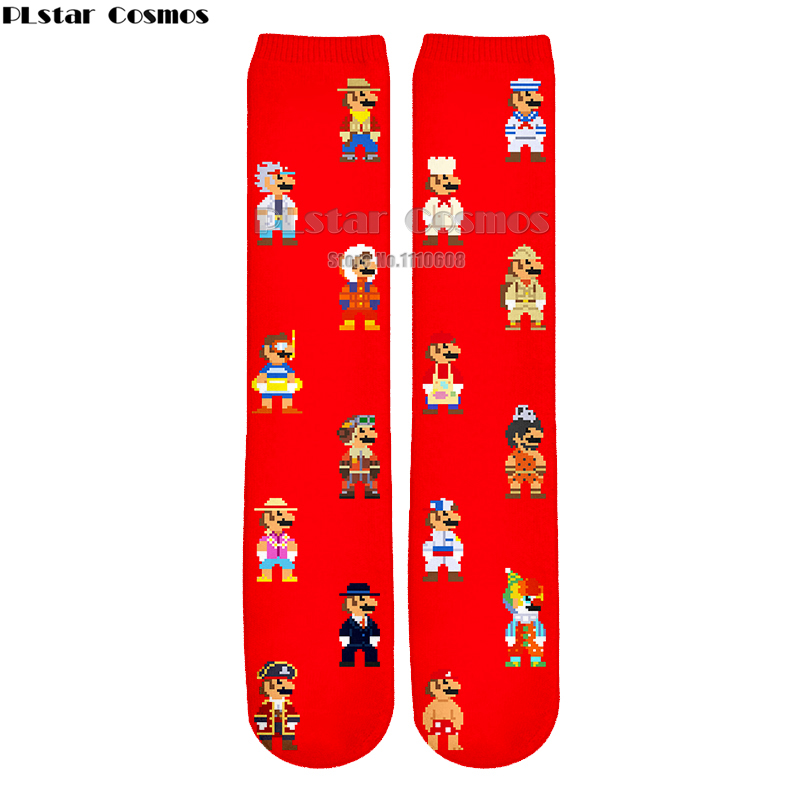 Men's Socks 12 Pairs Game Super Mario Socks Street Cosplay Comics Women Men Donkey Kong Mario Bros Socks Party Novelty Funny Party Halloween Diversified In Packaging